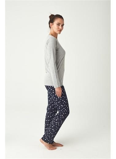 U.S. Polo Assn. U.S. Polo Assn. Kadın Gri Melanj Pijama Takımı Gri